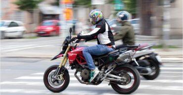 moto com sinistro